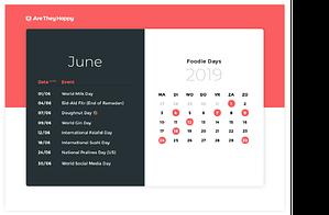 Foodie Days Calendar June