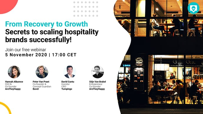 From Recovery to Growth Live webinar series for hospitality